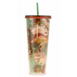 Starbucks Desert Cactus Floral Acrylic Venti Cold Cup Tumbler 24 Fl Oz