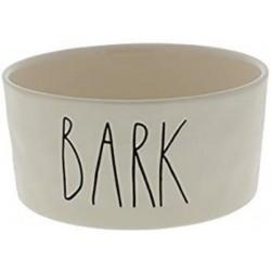 Rae Dunn Magenta BARK Dog Pet Ceramic Bowl