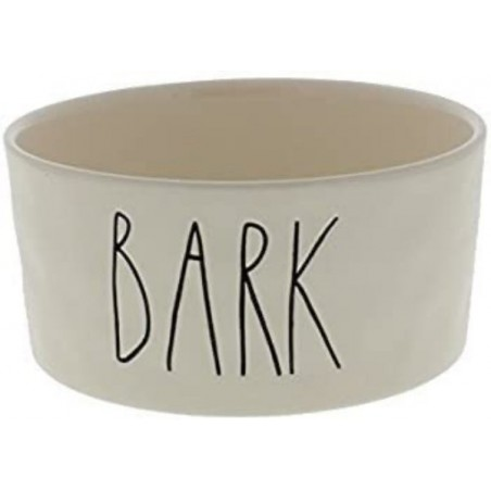 Rae Dunn Magenta BARK Dog Pet Ceramic Bowl