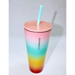 Starbucks Pride Rainbow Stainless Steel Cold Cup Tumbler 24 Fl Oz