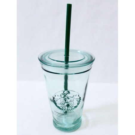 Starbucks Clear Glass Cold Cup Tumbler 16 Fl Oz