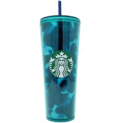 Starbucks Summer 2020 Teal Green Blue Wave Cold Cup Venti Tumbler 24 Fl Oz