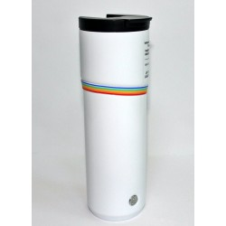 Stabucks Pride Rainbow White Stainless Steel Vacuum Insulated Tumbler 16 Fl Oz