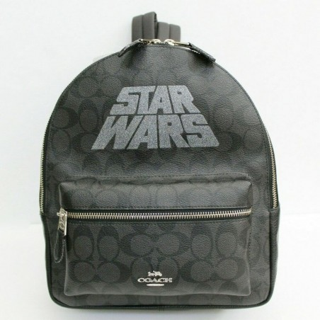 Coach x Star Wars Signature Coated Canvas and Leather Charlie Medium Backpack