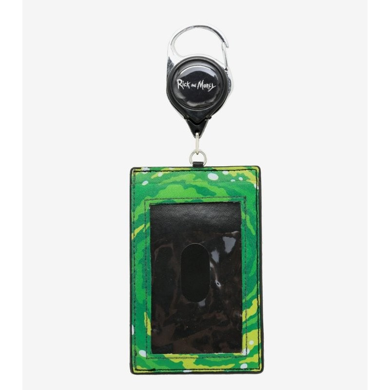Rick and Morty Portal Retractable Faux Leather ID Holder Lanyard