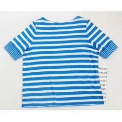 Ralph Lauren Blue White Rolled Short Sleeve Size Plus 2X