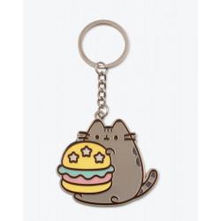 Pusheen Burger Enamel Keychain