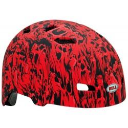 Bell Injector Helmet Berm Buster Child Bike Helmet Matte Red Skull Stream
