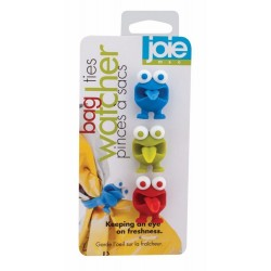 Joie Watcher Silicone 3-Pc Bag Ties Cord Organizers HIC Harold Import Co. 49505-HIC
