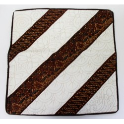 Batik Indonesia Cushion Pillow Cover Handmade Quilt Stich -Brown, Cream, Black