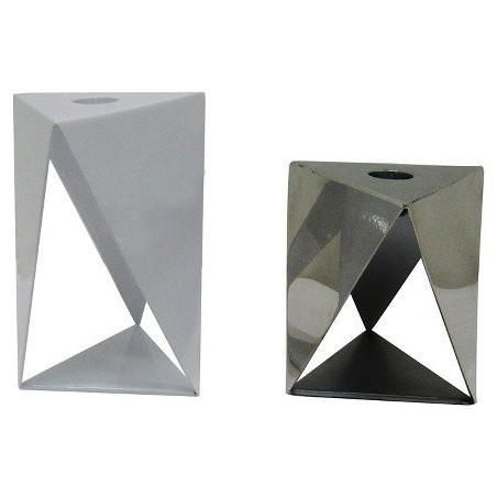 Nate Berkus Modern Style Metal Candle Holders
