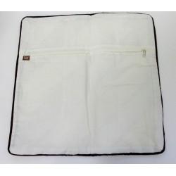 Batik Indonesia Cushion Pillow Cover Handmade Quilt Stich -Brown, Cream, Black