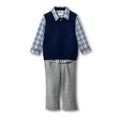 Genuine Kids by OSHKOSH Boys' 3 Piece Set - Vest Button Down Shirt Pants