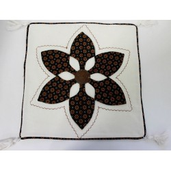 Batik Indonesia Cushion Pillow Cover Handmade Large Flower