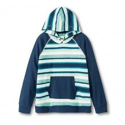 Genuine Kids by OSHKOSH Boys' Striped Hooded Tee - Blue