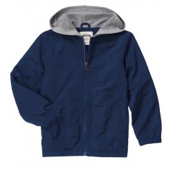 Gymboree Boys' Hooded Windbreaker Jacket - Navy Blue