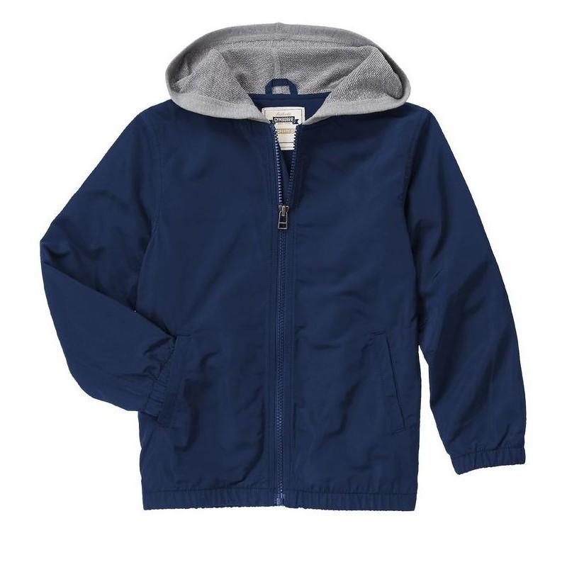 Gymboree Boys' Hooded Windbreaker Jacket - Navy Blue