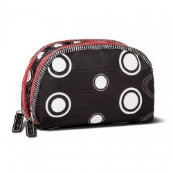 Sonia Kashuk Double Zip Cosmetic Bag Black