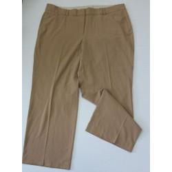 Lane Bryant Womens Plus Tan Brown Classic Trousers Dress Pants - Size 24