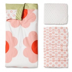 Orla Kiely 3-Pc Crib Bedding Set Heart Daisy Flowers