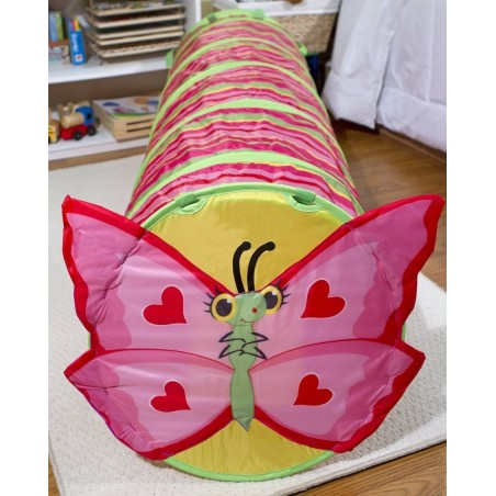 Melissa & Doug Sunny Patch Bella Butterfly Crawl Through Tunnel (almost 5 feet long)