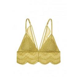 Victoria's Secret Bra Lace Straps Long Line Bralette - Incan Gold