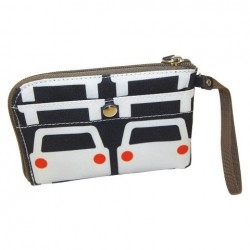 Orla Kiely Travel Wristlet Large Cars Multicolor