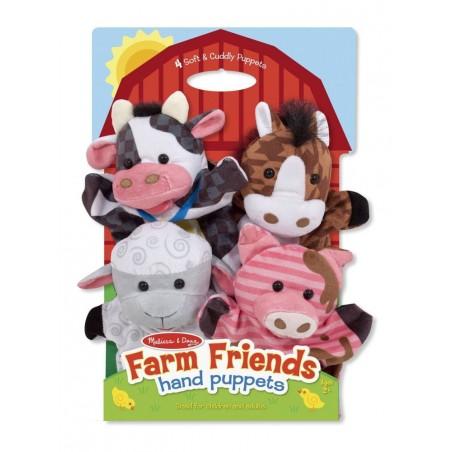 Melissa & Doug Farm Friends Hand Puppets - Set of 4