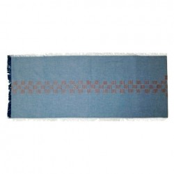 Nate Berkus Embroidered Denim Table Runner - Blue