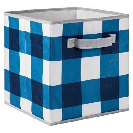 Circo Fabric Drawer - Blue Plaid - Pack of 4