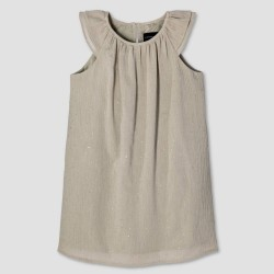 Victoria Beckham Toddler Girls' Sage Green Cap Sleeve Glitter Dot Peasant Dress