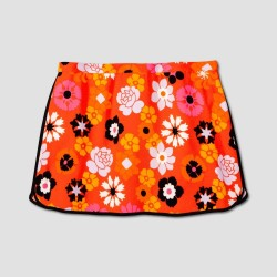 Victoria Beckham Women's Plus Retro Floral Pebble Crepe Skirt