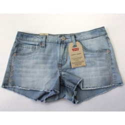 Levi's Girls' Blue Shorty Short Deniam Jeans Adjustable Waist