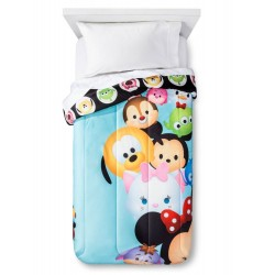 Disney Tsum Tsum Reversible Microfiber Twin Comforter