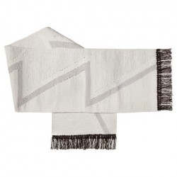 Nate Berkus Fringed Silver Handwoven Table Runner