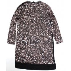 Rag Bone Spencer Silk Dress - Long Sleeves Allover Print Lights Black - Size S