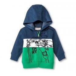 Teenage Mutant Ninja Turtles TMNT Boys' Zip Up Hoodie Jacket