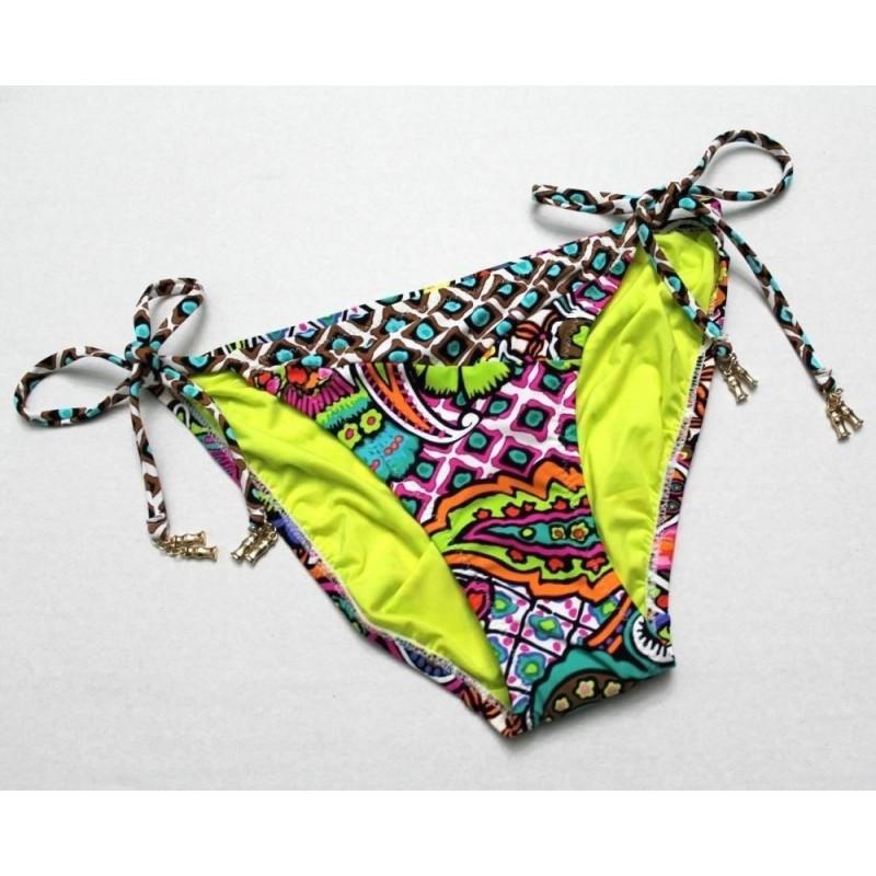 Trina Turk Madagascar Paisley Tie-Side Bikini Swim Bottom - Size 6
