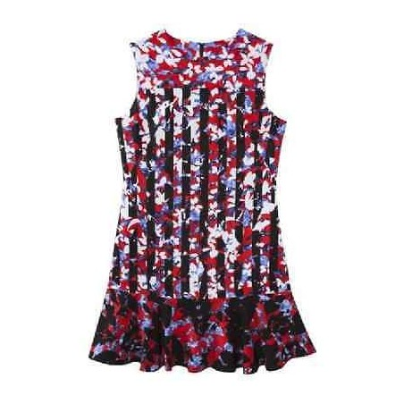 Peter Pilotto Red Floral Print Dress