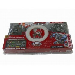 Transformers Hexbug Warriors Battle Stadium & 2 Robots - Lockdown Vs Silver Knight