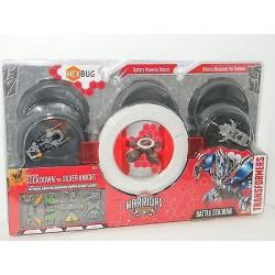 Transformers Hexbug Warriors Battle Stadium & 2 Robots - Lockdown Vs Silver Knight