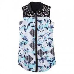 Peter Pilotto Shirt Dress Light Blue Floral Check Print