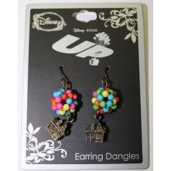 Disney UP Balloons House Adventure Beaded Drop Dangle Pierce Earrings