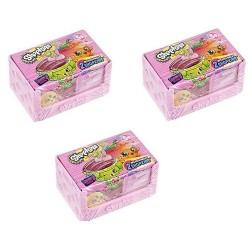 Shopkin Season 4 Bundle of 3 Blind Packs - 1 Pack Has a Basket & 2 Shopkins