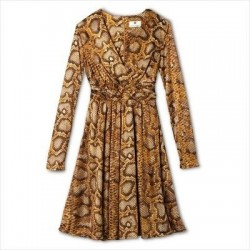 Altuzarra Brown Python Print Dress