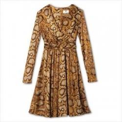 Altuzarra Brown Python Print Dress