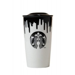 Starbucks Tumbler Limited Edition Band of Outsiders Designer - Black - 12 FL Oz