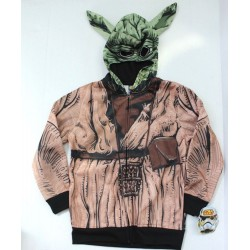 Disney Star Wars Boys Yoda Costume Hoodie Jacket - Brown