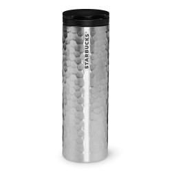 Starbucks Stainless Steel Hammered Tumbler - Silver, 16 Fl Oz