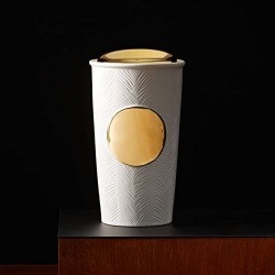 Starbucks Gold Textured Ceramic Traveler Mug, 10 Fl Oz